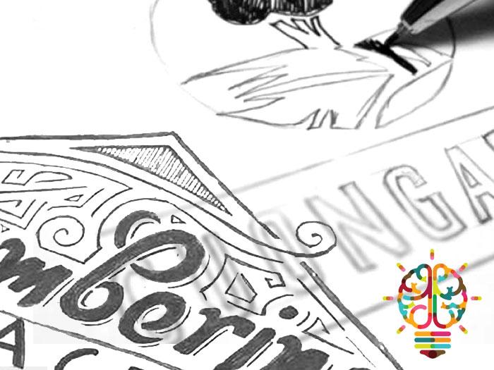Signage design sketches